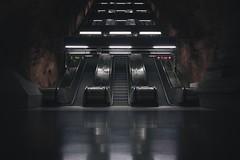 Stripes N' Rows (jsswiss) Tags: inexplore fs161016 rad fotosondag fujifilm fujifilmxt2 xt2 xf23 fujinon stockholm sweden metro metrostation escalator urban afterlight