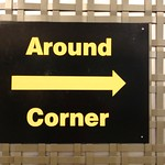 stock   Around Corner Sign Out of Context thumbnail