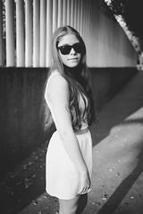 (Isai Alvarado) Tags: street urban woman white cinema black blur film girl smile fashion 35mm hair movie model nikon focus sara dof arms bokeh stock longhair skirt cine shades lips cinematic d800
