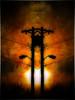 Power Pole, Doubled (Dave Linscheid) Tags: sunset usa texture minnesota powerlines powerpole textured butterfield watonwancounty allxpressus besteverdigitalphotography