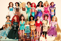 the disney princesses..who is your favourite?? (girl enchanted) Tags: childhood dolls disney collection animation collectible dreamworks mattel dollies heroines donbluth