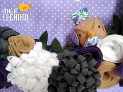 Guirlanda passarinho roxo (Ateli Lecanto) Tags: winter birds de handmade artesanato craft felt guirlanda porta feltro wreaths inverno decorao enfeite passarinhos