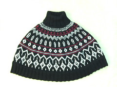 Poncho i 100% uld (Knitting/strik) Tags: strik