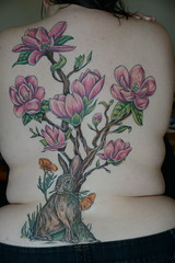 Session 11: Finished! (rhiannonstone) Tags: bunny tattoo ink body poppies magnolias truelovetattoos