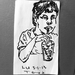 Dinner with LU. #teod #teodtomlinson #portrait #sharpie #face #myson #art #sketch #napkinart http://bit.ly/12AGwTs teod_arts photo on Instagram Teod Tomlinson Art (Teod Tomlinson) Tags: art birds painting toys gallery surreal pop oil expressionist raven hive tool impressionist juxtapoz the
