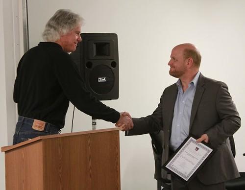 Photo - Zia Consulting CEO Mike Mahon, Mayor Matt Appelbaum