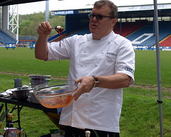 Chef Nigel Haworth at the Fantastic Food Show - BBQ demo (Tony Worrall Foto) Tags: show uk england food cooking fun football fantastic stadium year sunday may cook 4th bbq lancashire blackburn event chef pitch celeb cooks 19th foodie lancs returned foodshow ewoodpark 2013 chefswhites haworths nigelhaworthsfantasticfoodshow