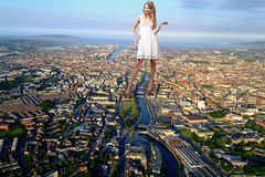 Towering over Dublin (joe117able) Tags: dublin white dress legs taylor heels swift towering mega