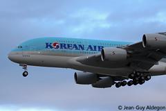Airbus A380-861 F-WWAB 0128 HL7622 Korean Air Lines (Jean-Guy Aldegon - AroSpot66) Tags: air korean airbus a380 toulouse blagnac avion 128 atterrissage aroport aro fwwab hl7622