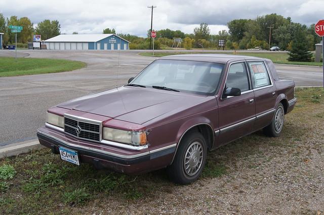 cars sedan burgundy dodge 1991 mopar dynasty 91 4door