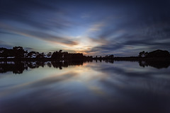 Hatchet Pond. (muddlemaker1967) Tags: trees sunset water clouds reflections landscape nikon hampshire thenewforest d700