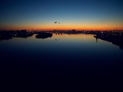 Sunset. Bird view. (rededia) Tags: sunset skyline cityscape water moscow drone dji