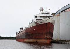 Freighter American Victory in long term layup at Superior Wisconsin.  August 11 2016. (Dan Haneckow) Tags: 2016 americanvictory superior freighters