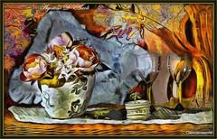 Vaso con Fiori e bicchieri - Agosto-2016 (agostinodascoli) Tags: impressionismo colore fullcolor art digitalart digitalpainting photopainting cianciana sicilia nikon nikkor texture vaso bicchieri fiori stilllife agostinodascoli
