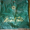 Old Marshall Field's Large Plastic Bag (artistmac) Tags: chicago il illinois southside south side marshallfield marshallfields marshallfieldcompany fields darkgreen plasticbag gold antique long gone macys store departmentstore downtown