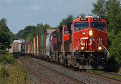 CN 3040 East, Lynden Ontario (Joseph Bishop) Tags: cn 3040 ge et44ac trains train track tracks railfan railroad railway rail rails lynden ontairo cndundassubdivision gevo