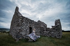 Lligwy Chapel (dilys_thompson) Tags: lligwy lligwychapel emily anglesey chapel ruin ruins church dress model girl twirl old