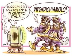 Sciacalli (Moise-Creativo Galattico) Tags: editoriali moise moiseditoriali editorialiafumetti giornalismo attualit satira vignette terremotocentro italia isis