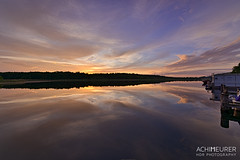 Sunset on a house boat (HDRmeurer) Tags: ifttt 500px meklenburgvorpommern hdr hausboot kuhnle sunset sonnenuntergang orange houseboat deutschland germany wasser water lake mritz see