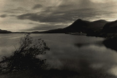 Loch Assynt + Ardvreck (Spitting Doc) Tags: agfa pinhole apx400 silverprint recordrapid se1 catechol mt3 assynt scotland clack
