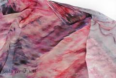 Pink Agate #3 (beesybee) Tags: felting handdyedscarf handdyedsilkfabric nunofeling scarf shibori silkchiffon silkfabric