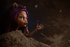 Good morning starshine (Allan Saw) Tags: clawdeen wolfmonster doll toy portrait night sky werewolf stars rock monsterhigh