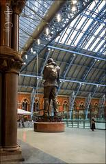 The Meeting Place (brianac37) Tags: railway railwaystation london statue stpancras