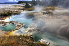 Potts palette (Chief Bwana) Tags: wy wyoming yellowstone yellowstonenationalpark nationalparks geothermal geyser hotsprings yellowstonelake westthumb psa104 chiefbwana pottshotsprings