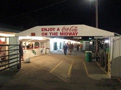Gateway Leaving The Grandstand. (dccradio) Tags: malone ny newyork franklincounty franklincountyfair communityevent fun entertainment event annual fair festival countyfair midway lights cocacola gate foodstand concessionsstand fairfood night