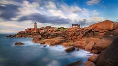 Ctes d'Armor (billon.sebastien) Tags: vacances copains bretagne pose longue paysage sunset mer marie sylvain darling yoann