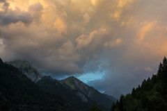 Faszination Abendhimmel (thunderbird-72) Tags: abendstimmung sterreich lechquellengebirge alps austria vorarlberg berge sonnenuntergang klostertal dalaas alpen wolken at