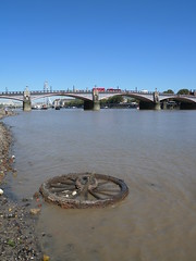 Cartwheel upstream of Lambeth Bridge (Thames Discovery Programme) Tags: thamesdiscoveryprogramme westminster london community archaeology riverthames fwm05