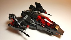 Stealth starfighter (Opticalbliss) Tags: lego custom creations moc mocs space spaceships afol fighter bricks toys