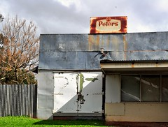 Peters (holly hop) Tags: laanecoorie peters generalstore store shopfront shop signs rusty rustyandcrusty tin corrugatediron window building icecream logo rural ruraldecay australia victoria inexplore explored