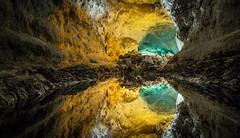Cueva de los Verdes - Mirroring (Paul Bemert) Tags: cueva de los verdes mirroring reflexion volcano water color