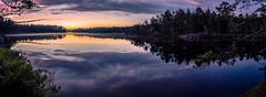 The Remaining Skylight (ZoeEnPhos) Tags: tyresta tyrestanationalpark sweden twilight night natt sj spegling nature lake fissurevalleylake canonef14mmf28liiusm canoneos5 fullframe lightroompanorama