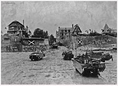 Allied Invasion Normandy 1944, Arromanches-les-Bains                                           Arromanches-les-Bains (dark-dawud) Tags: 1944 normandy rasc alliedinvasionnormandy 377gtcorasc people war ww2 old nostalgic landings beach coast coastal france buildings landingcraft dukws dday arromanches arromancheslesbains