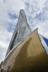 The Shanghai Tower (tmeallen) Tags: shanghaitower twistedsnake skyscraper highestbuildinginchina glasscovered reflections pudong china clouds architecture