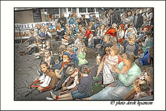 FAMILIES  FUN (Derek Hyamson (5 Million views)) Tags: candiids families hdr kids parents pirateday liverpool albertdock