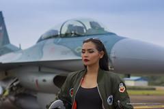 Bella Fatma Pratiwi (ranan samanya) Tags: 50mmf12 portrait people f16 fighter jet depthoffield