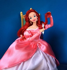 The Importance of Body Language (Richard Zimmons) Tags: mattel disneystore eric princess sebastian littlemermaid doll ariel