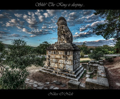 Shh! The King is sleeping... (Nikos O'Nick) Tags: nikos kotanidis onick nicholas nikon d810 nikkor 1424mm hdr lion amphipolis hellas greece ancient alexander great hellenic civilization hellenes sky clouds blue frame plants vegetation             shh king sleeping z    photomatix topaz nik collection laomedon mytilene  macedonia  explore 12 oct wow sculpture   statue