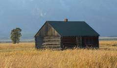 Log Cabin, Mormon Row - Grand Teton National Park, Wyoming (danjdavis) Tags: mormonrow grandtetonsnationalpark nationalpark oldhouse historichouse wyoming logcabin cabin grassland