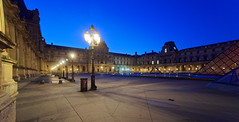 Cour Napolon (marko.erman) Tags: louvre palais night perspective architecture light pov wide angle sony travel popular blue red line broken pei architect museum muse glass transparent courtyyard cour napolon pyramid paris france musedulouvre cournapolon bluehour