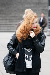 Red hair... (menard_mickael) Tags: street streetphoto streetphotography girl woman redhair france paris french ladefense teen teenager