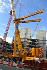 Amber Beast (dhcomet) Tags: london amber yellow ainscough crane liebherr lift lifting construction cityoflondon farringdon building
