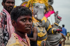 Celebration (Ivon Murugesan) Tags: celebration fun joy boy indianboy ganeshchaturthi vinayagarchaturthi people travel festival places mamallapuram mahabalipuram colors colurs colorfull colourfull flickrtravelaward travelaward flickr