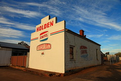 Yeoval Garage Revisited (Darren Schiller) Tags: yeoval garage advertising automotive building closed ampol holden disused decaying deserted decay evening facade history business chamberlain smalltown rural rustic rusty mechanic