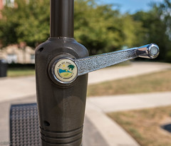 Umbrella crank. Day 260 (RPStrick) Tags: umbrella crank picnic table