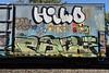 HILO PAZ (TheGraffitiHunters) Tags: graffiti graff spray paint street art colorful freight train tracks benching benched hilo floater paz boxcar